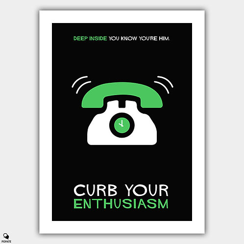 Curb Your Enthusiasm Minimalist Poster - Cut off time