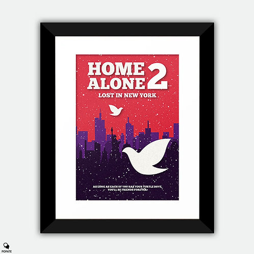 Home Alone 2 Minimalist Framed Print