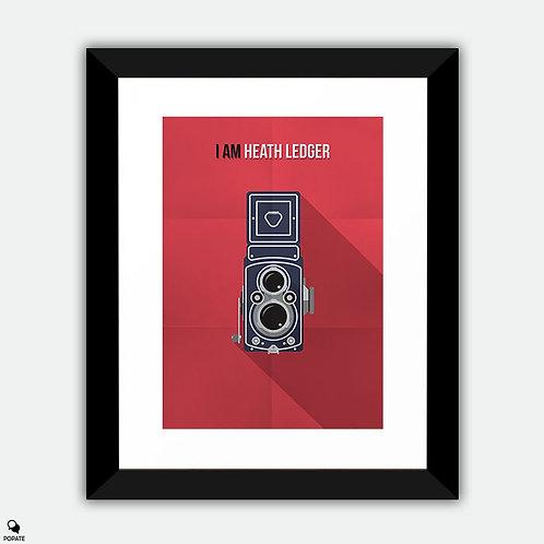 I Am Heath Ledger Minimalist Framed Print