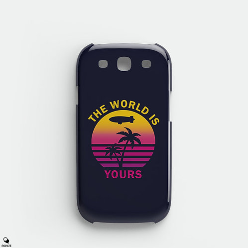 The World Is Yours Alternative Galaxy Phone Case from Scarface