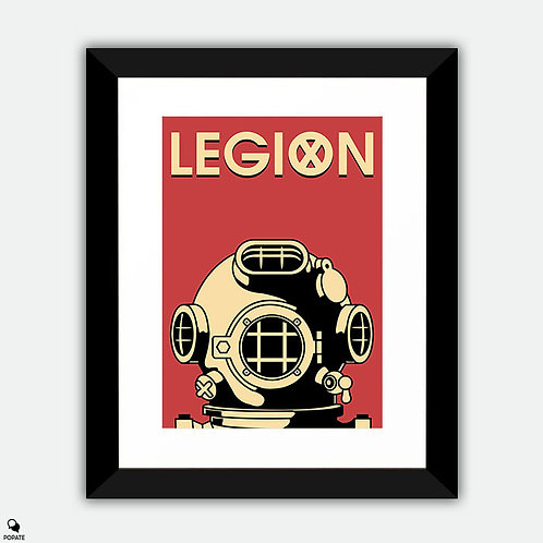 Legion Alternative Vintage Framed Print - Man In The Suit