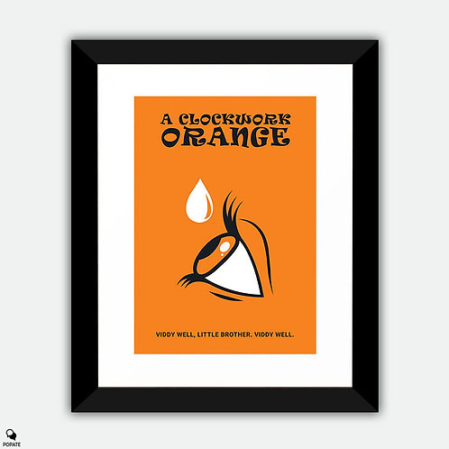 A Clockwork Orange Minimalist Framed Print - Viddy Well