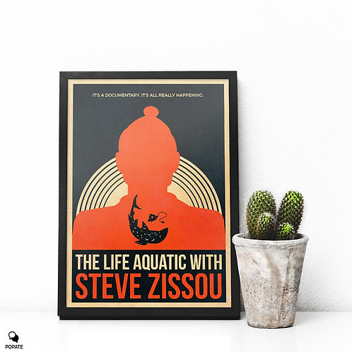 The Life Aquatic With Steve Zissou Vintage Alternative Framed Print