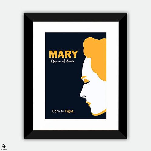 Mary Queen of Scots Alternative Minimalist Framed Print