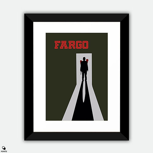 Fargo Minimalist Framed Print