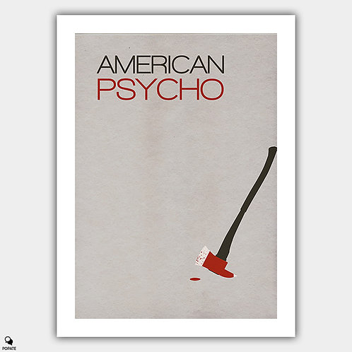 American Psycho Minimalist Poster - The Disappearance of Paul Allen