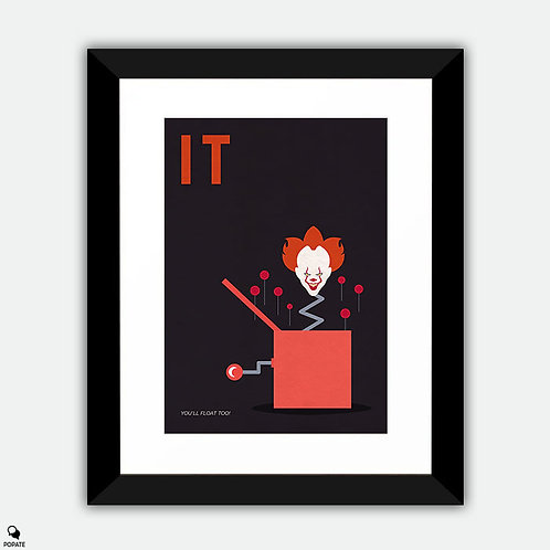 IT Minimalist Framed Print - Pennywise In The Box