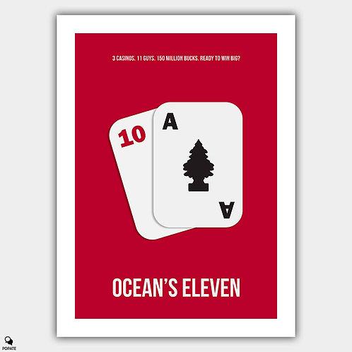 Ocean's Eleven Minimalist Poster - Blackjack