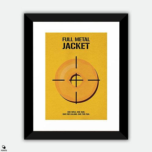 Full Metal Jacket Minimalist Framed Print - Donut Infantry