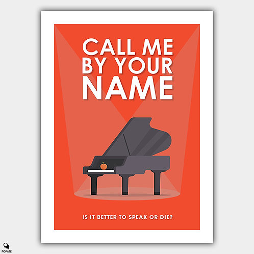 Call Me By Your Name Minimalist Poster - Piano