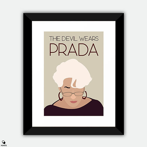 The Devil Wears Prada Minimalist Framed Print - Miranda Priestly