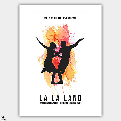 La La Land Minimalist Poster - Fools Who Dream