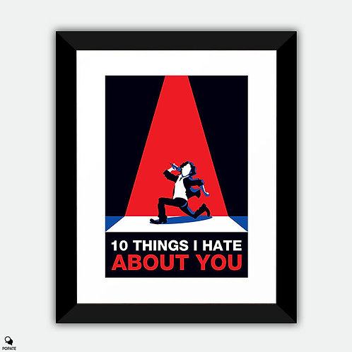 10 Things I Hate About You Minimalist Framed Print