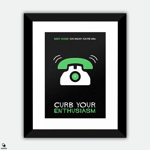 Curb Your Enthusiasm Minimalist Framed Print - Cut off time