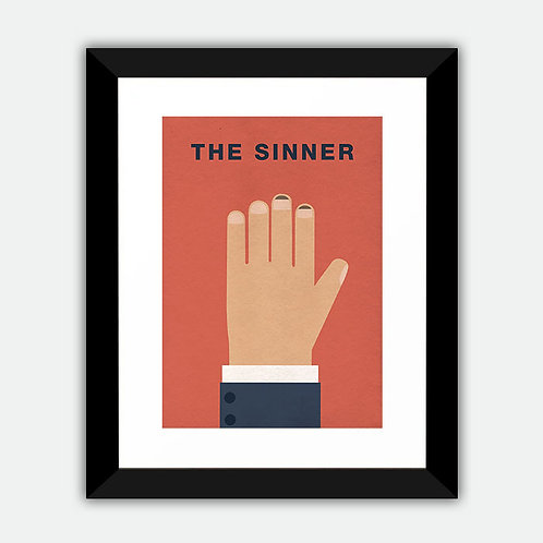 The Sinner Minimalist Framed Print
