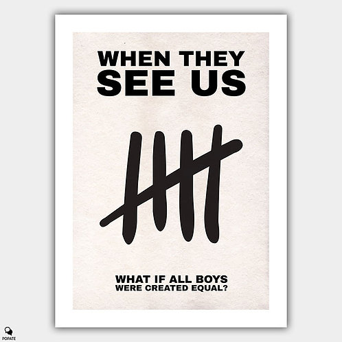 When They See Us Minimalist Poster