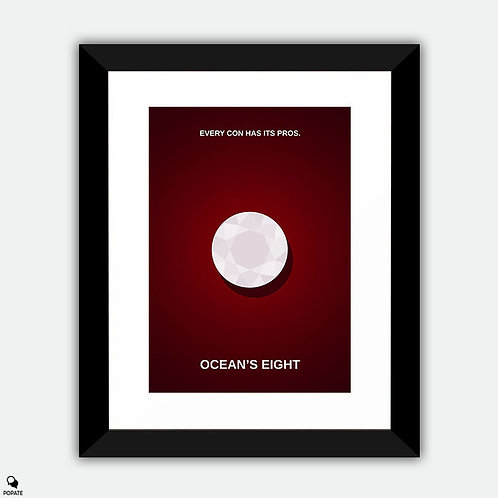 Ocean's 8 Minimalist Framed Print