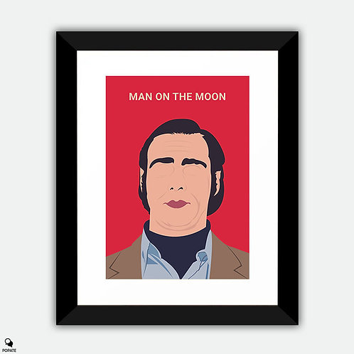 Man On The Moon Minimalist Framed Print