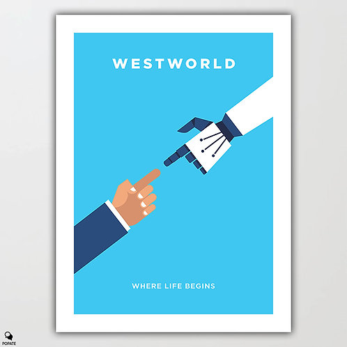 Westworld Minimalist Poster - Guest and Host