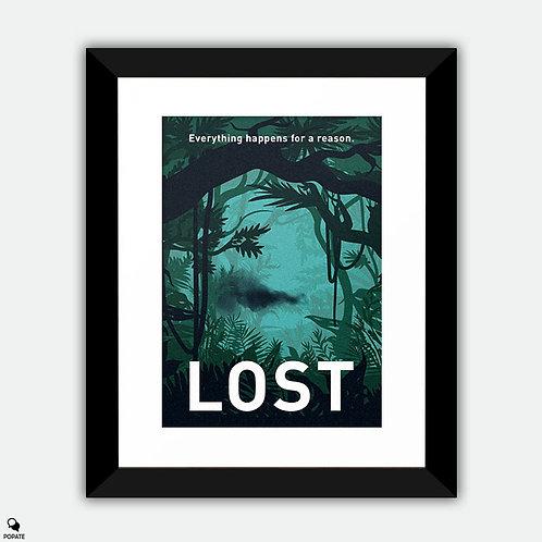 Lost Minimalist Framed Print - Black Smoke