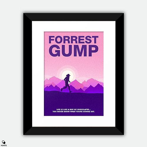 Forrest Gump Minimalist Framed Print