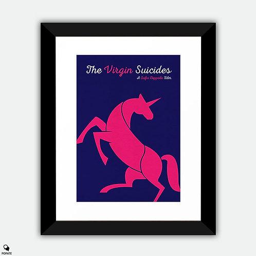The Virgin Suicides Minimalist Framed Print - Unicorn