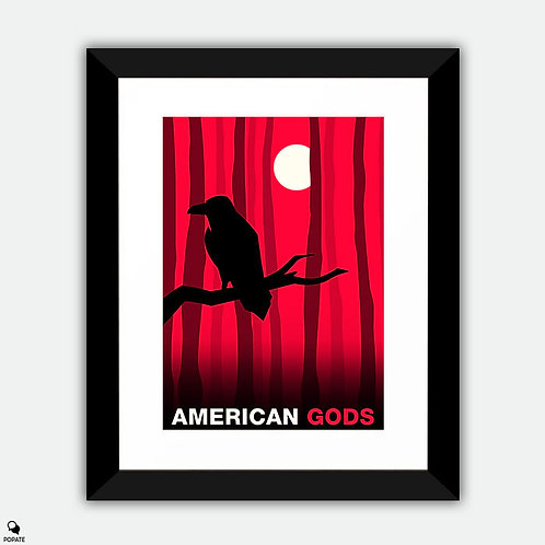 American Gods Alternative Framed Print - Odin