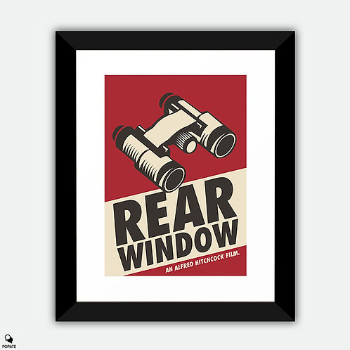Rear Window Vintage Style Framed Print