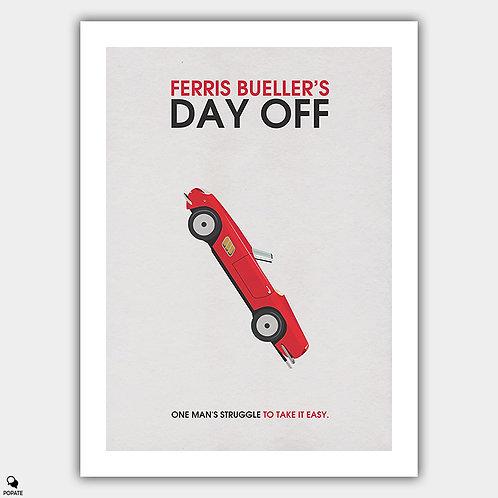 Ferris Bueller's Day Off Alternative Minimalist Poster