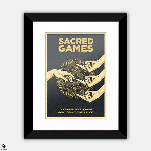 Sacred Games Vintage Alternative Framed Print
