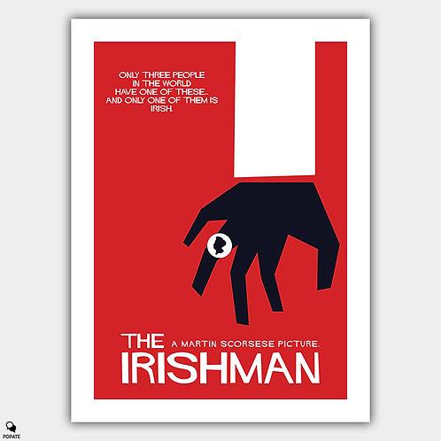 The Irishman Saul Bass style Vintage Poster - Three Rings