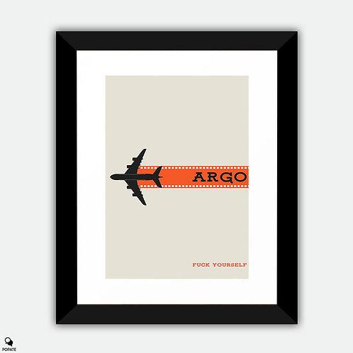 Argo Minimalist Framed Print