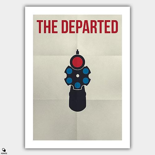 The Departed Minimalist Poster - Matt Damon