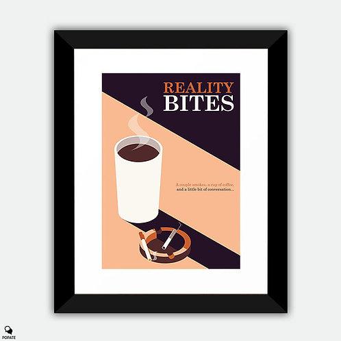 Reality Bites Minimalist Framed Print