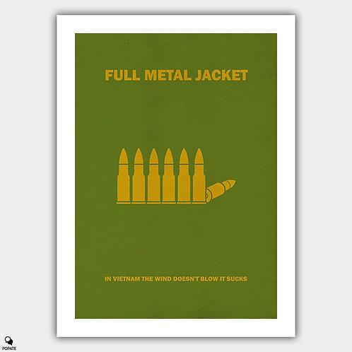 Full Metal Jacket Minimalist Poster - Bullets