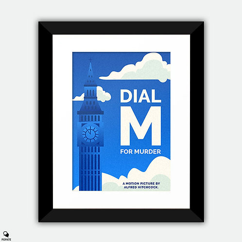 Dial M for Murder Minimalist Framed Print