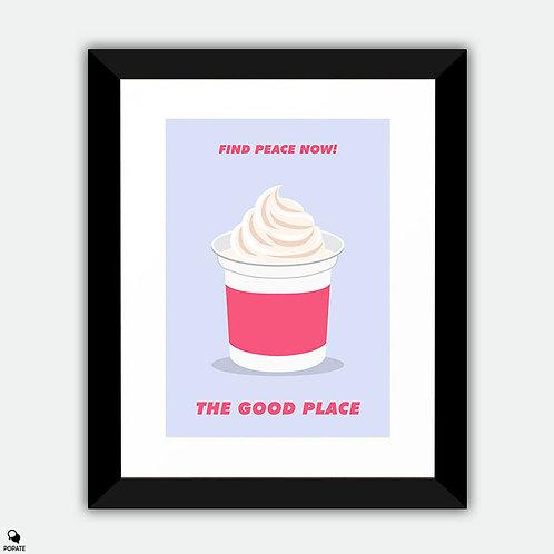 The Good Place Minimalist Framed Print - Yogurt