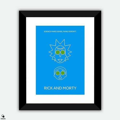 Rick And Morty Minimalist Framed Print