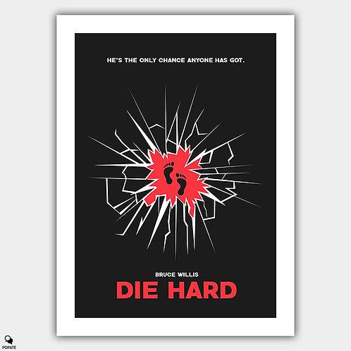 Die Hard Minimalist Poster - Broken Glass