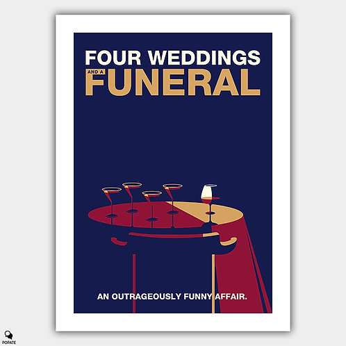 Four Weddings and a Funeral Minimalist Poster