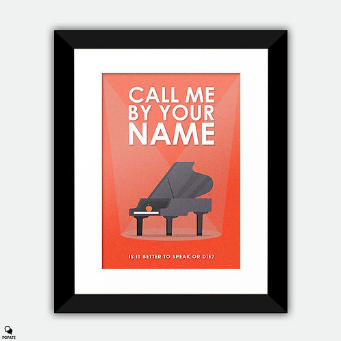 Call Me By Your Name Minimalist Framed Print - Piano