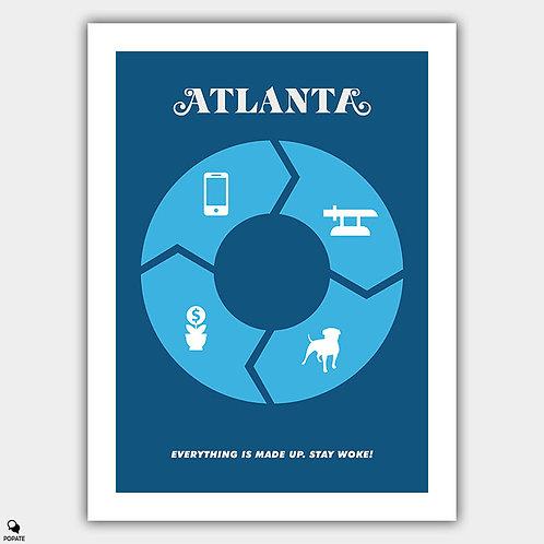 Atlanta Minimalist Poster - The Streisand Effect
