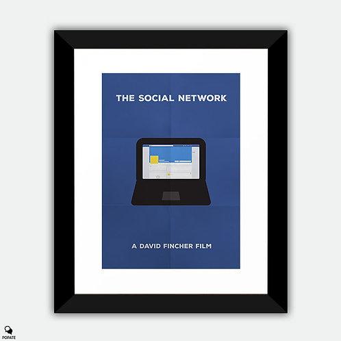 The Social Network Minimalist Framed Print