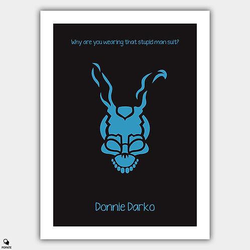 Donnie Darko Minimalist Poster - Man Suit