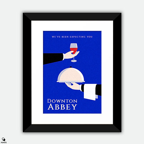 Downton Abbey Minimalist Framed Print
