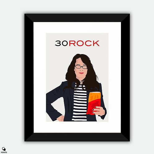 30 Rock Minimalist Framed Print - Liz Lemon