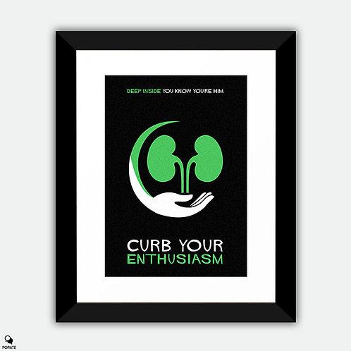 Curb Your Enthusiasm Minimalist Framed Print - Kidney
