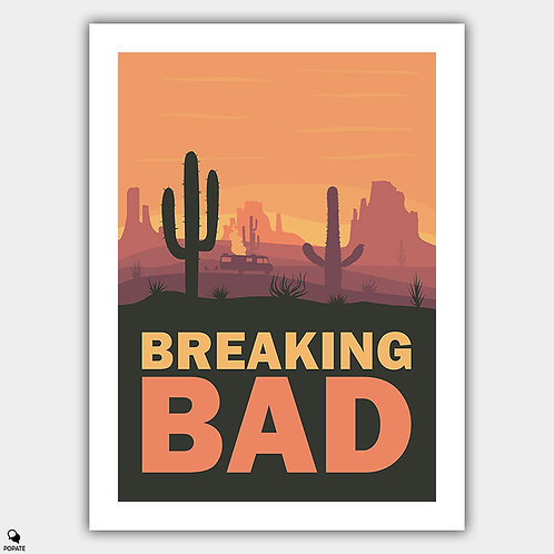 Breaking Bad Minimalist Poster - Four Days Out