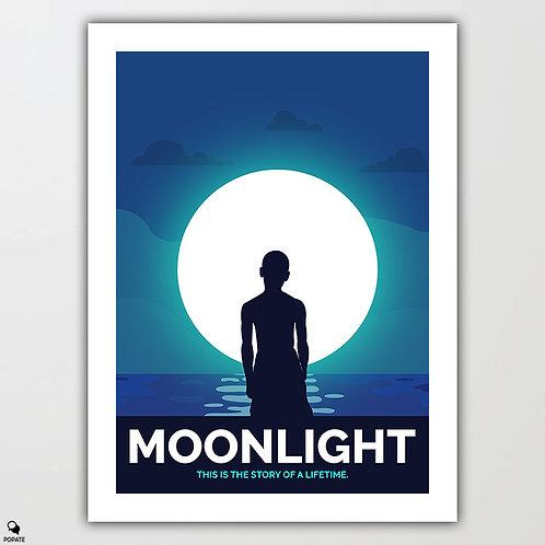 Moonlight Alternative Poster - Blue