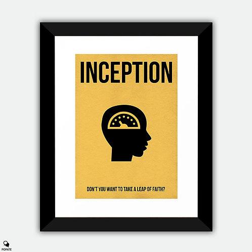 Inception Minimalist Framed Print - Regrets